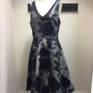 WHBM metallic flower holiday dress